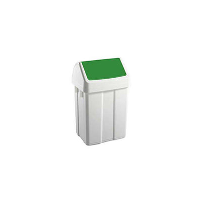 Afvalbakjes met klapdeksel